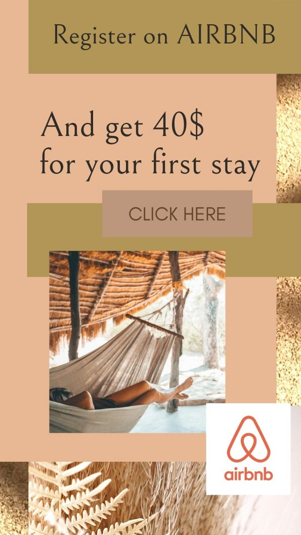 register on Airbnb and get 40$